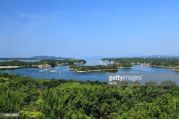 ago bay from tomoyama park, shima, mie, japan - 伊勢志摩 ストックフォトと画像