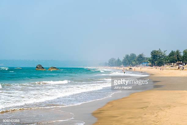 Agonda beach in Goa, Konkan, India