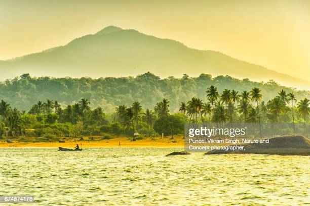 agonda scenery - goa stock pictures, royalty-free photos & images