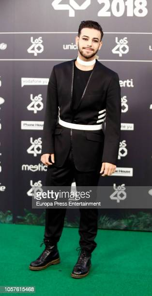 Agoney attends 'LOS40 Music Awards' 2018 at WiZink Center on November 2 2018 in Madrid Spain