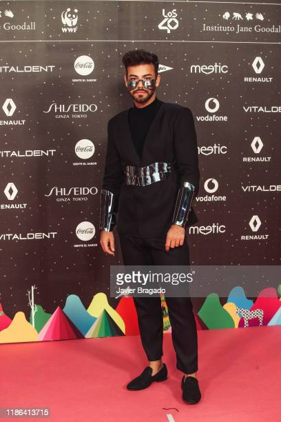 Agoney attends 'Los40 music awards 2019' photocall at Wizink Center on November 08 2019 in Madrid Spain