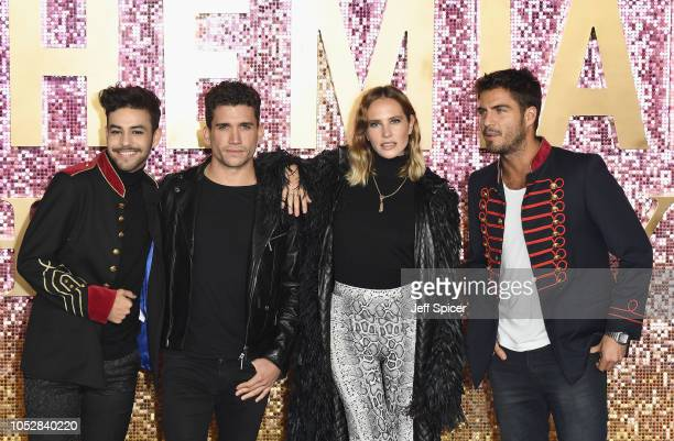 Agoney Hernandez Jaime Lorente Lopez Brisa Fenoy and Maxi Iglesias attend the World Premiere of 'Bohemian Rhapsody' at SSE Arena Wembley on October...
