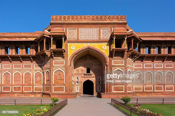 Agra Fort (Red Fort) in the city of Agra in India.