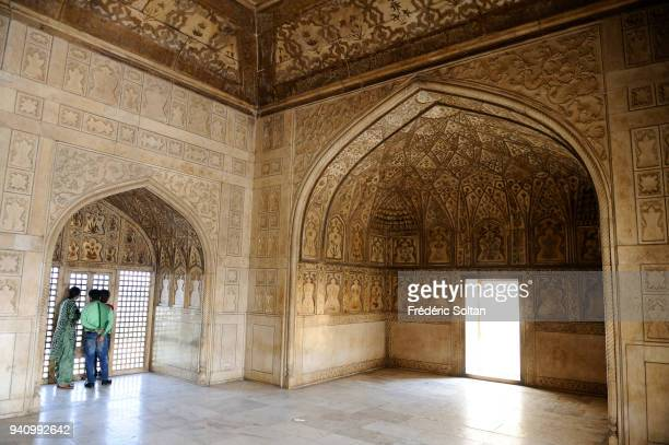 Agra Fort is a UNESCO World Heritage site located in Agra in Uttar Pradesh on March 24, 2017 in India.