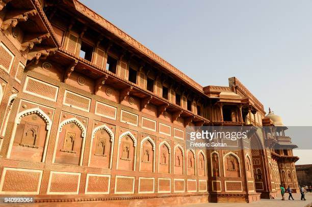 Agra Fort is a UNESCO World Heritage site located in Agra in Uttar Pradesh on March 24 2017 in India