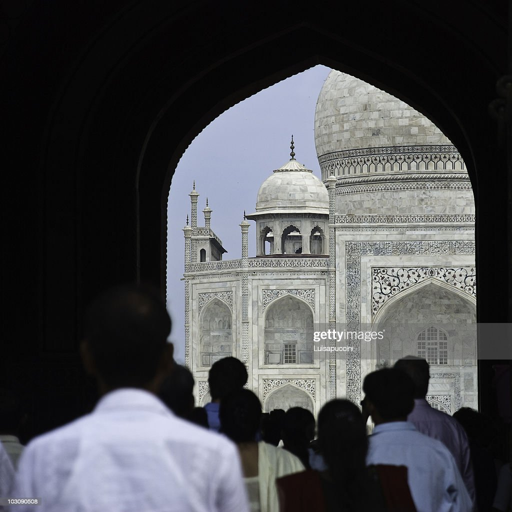 Agra, the Taj Mahal : Foto stock