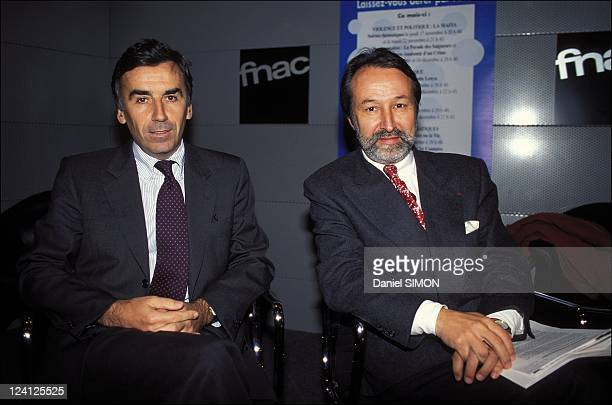 Agreement between FNAC and Arte in Paris, France on November 09, 1994 - Pierre Blayau, chairman of FNAC and Jerome Clement, chairman of Arte.