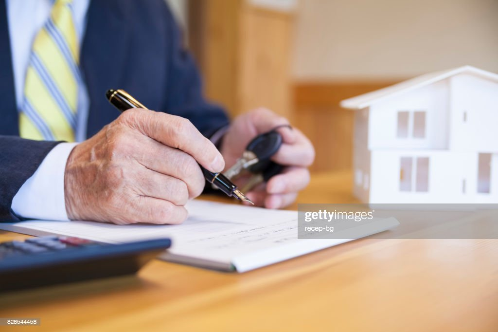 Agreement For New House : Stock Photo