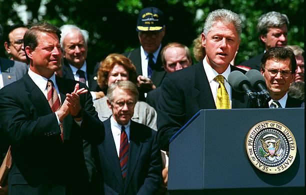 Balanced Budget Agreementpresident Bill Clinton Makes His A