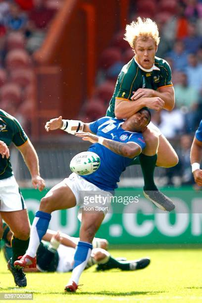Agression de Schalk BURGER sur Junior POLU Afrique du Sud / Samoa Coupe du Monde de Rugby 2007 Parc des Princes Paris