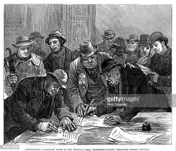 Agricultural Labourers' Union meeting in Farringdon Street London 1877 Founded by Joseph Arch and inaugurated at Leaming in 1872 the National Union...