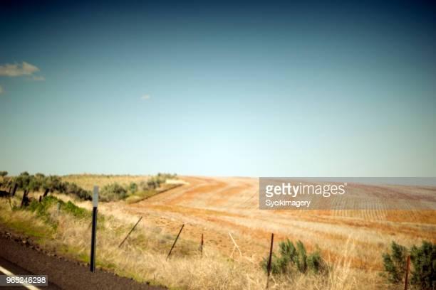 Agricultural land along rural highway