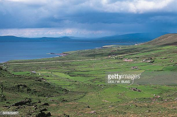 Agricultural landscape around the Ring of Kerry County Kerry Ireland