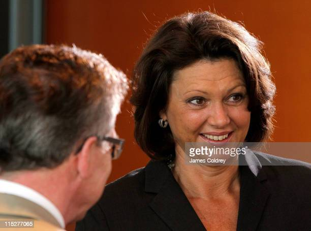 Agriculture and Consumer Protection Minister Ilse Aigner attends the weekly German government cabinet meeting on June 6, 2011 in Berlin, Germany. The...