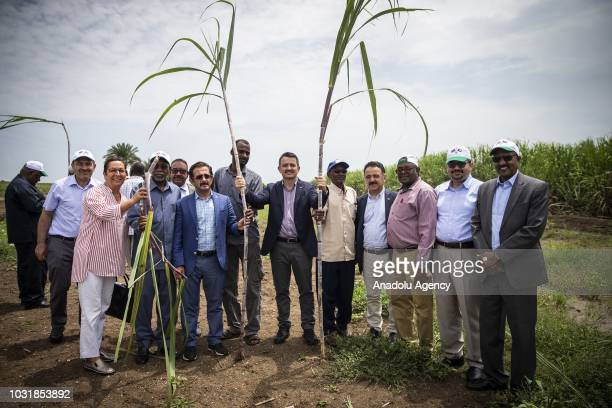 Agriculture and Forestry Minister of Turkey Bekir Pakdemirli inspects the fields of sugar and feed fields on the last day of his official visit as he...