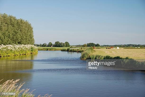 agriculture  landscape - friesland noord holland stockfoto's en -beelden