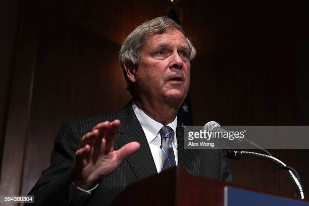 S Agriculture Secretary Tom Vilsack speaks at the US Chamber of Commerce August 23 2016 in Washington DC Secretary Vilsack addressed the Hiring Our...