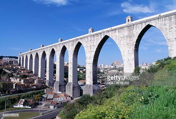 Aguas Livres Aqueduct 17281748 Alcantara Valley Lisbon Portugal 18th century