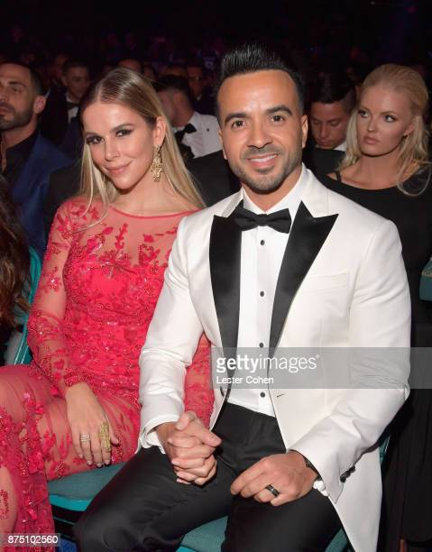 Agueda Lopez and Luis Fonsi attend The 18th Annual Latin Grammy Awards at MGM Grand Garden Arena on November 16 2017 in Las Vegas Nevada
