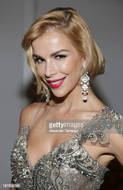 Agueda Lopez attends Miami Hair Beauty and Fashion 2013 by Rocco Donna on November 7 2013 in Miami Florida