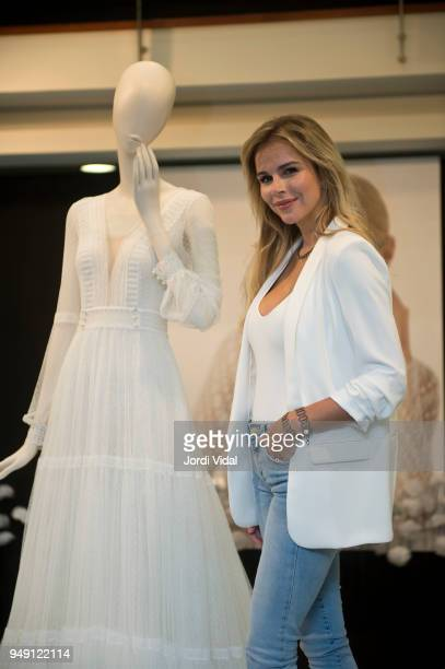 Agueda Lopez attends the press during the Rosa Clara opening showroom on April 20 2018 in Sant Just Desvern Spain