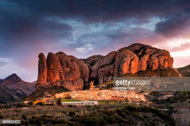 Aguero village, Huesca, Aragon, Spain