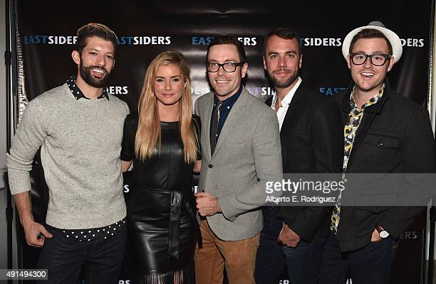 J Aguiar actress Brianna Brown writer/director Kit Williamson actor John Halbach and Will Shepherd attend the premiere of Go Team Entertainment's...
