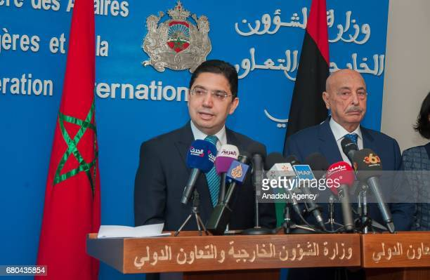 Aguila Saleh Issa President of the Libyan House of Representatives in Tobruk and Morocco's Minister of Foreign Affairs and International Cooperation...