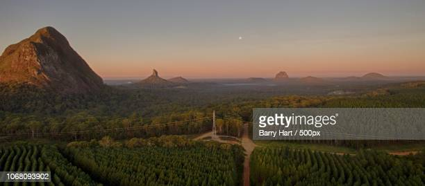 d'aguilar, australia - glass house mountains stock pictures, royalty-free photos & images