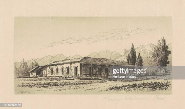 Aguirre House , circa 1880. Artist Henry Chapman Ford.
