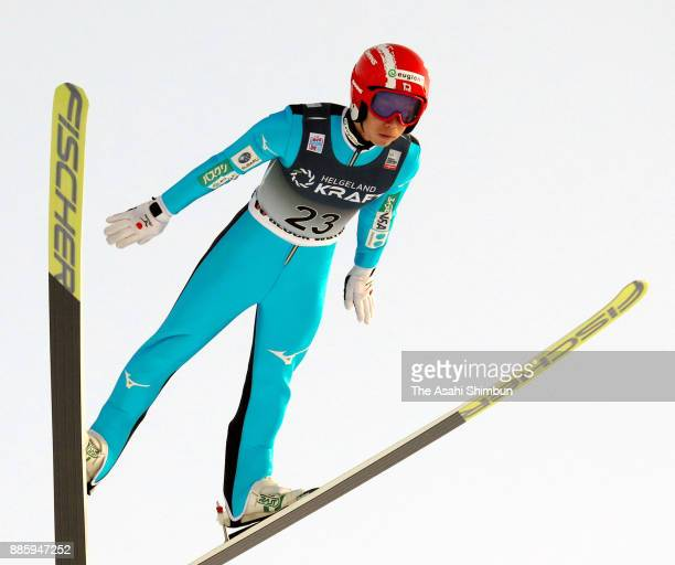 Aguri Shimizu of Japan competes in the ski jumping of the Men's Gundersen LH HS140/100 K during day two of the FIS Nordic Combined World Cup on...
