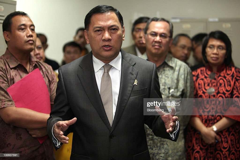 Indonesian Finance Minister Agus Martowardojo News Conference