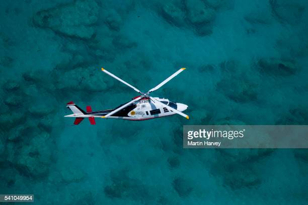 Agusta 109C helicopter.Seychelles