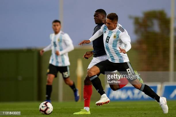 Agustin Almendra of Argentina in action during the friendly match between Argentina and France U20 at Pinatar Arena in Murcia Spain on March 20 2019