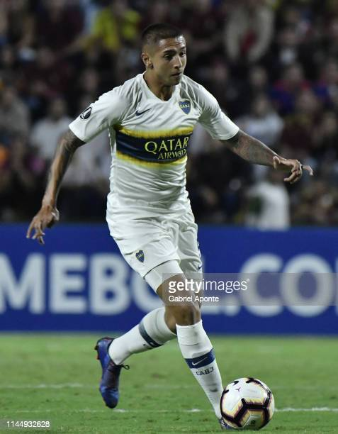 Agustin Almendra of Boca Juniors in action during a group G match between Deportes Tolima and Boca Juniors as part of Copa CONMEBOL Libertadores 2019...