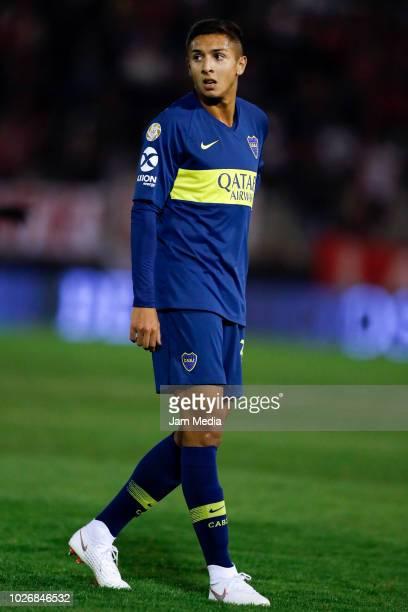 Agustin Almendra of Boca Juniors looks on during a match between Huracan and Boca Juniors as part of Superliga Argentina 2018/19 at Estadio Tomas...