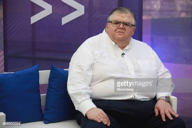 Agustin Carstens governor of Banco de Mexico listens during an interview on the sidelines of the 80th annual Mexican Banking Association in Acapulco...