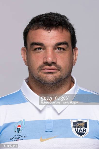 Agustin Creevy of Argentina poses for a portrait during the Argentina Rugby World Cup 2019 squad photo call on September 13, 2019 in Hirono,...
