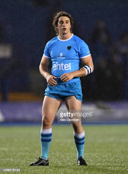 Agustin Della Corte of Uruguay looks on during the Syft International Challenge game between Cardiff Blues and Uruguay Rugby at Cardiff Arms Park on...