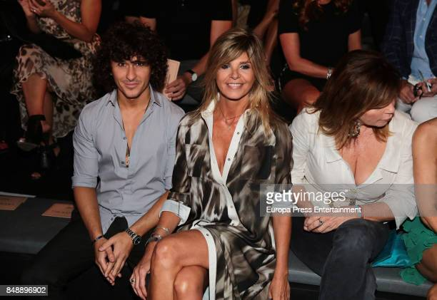 Agustin Etienne and Arancha de Benito are seen during MercedesBenz Fashion Week Madrid Spring/Summer 2018 at Ifema on September 15 2017 in Madrid...