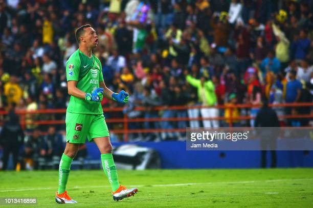 bedffac07ba Agustin Marchesin of America celebrates after the first goal of his team  during the third round