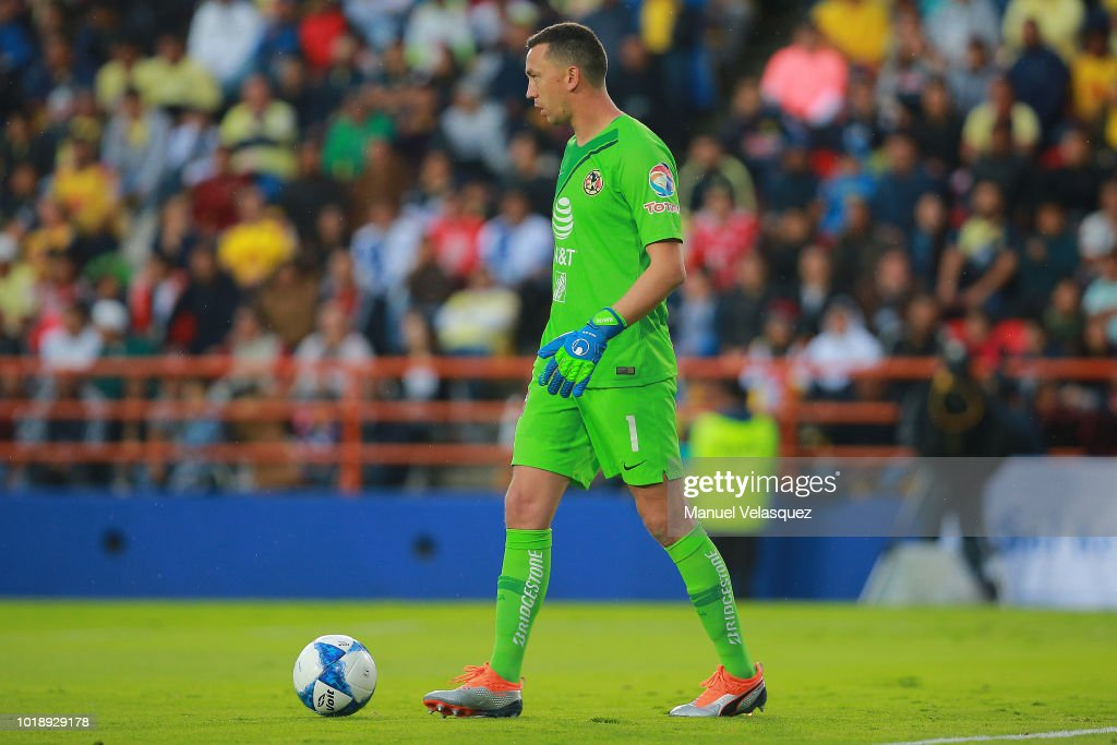 f3091c6be4f Agustin Marchesin of America controls the ball during the third ...