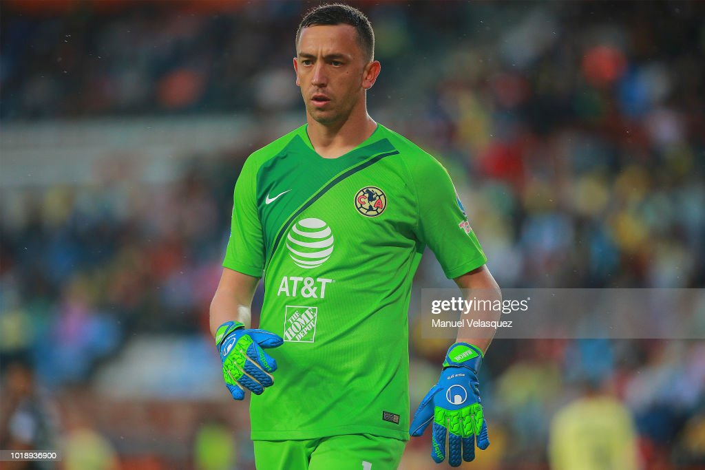 a157e902720 Agustin Marchesin of America looks on during the third round match ...