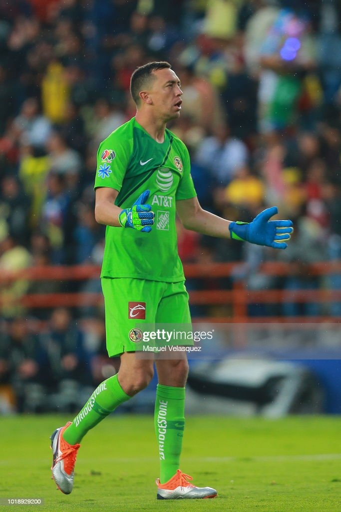 f6011cc213e Agustin Marchesin of America reacts during the third round match ...