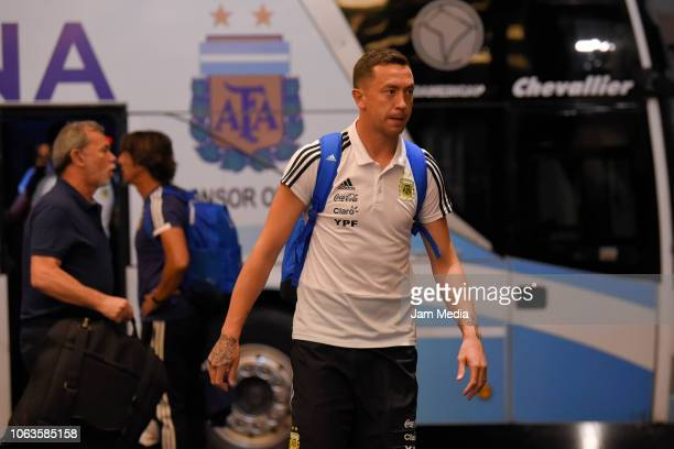 Agustin Marchesin of Argentina arrives to Diplomatic Hotel on November 19 2018 in Mendoza Argentina Argentina will face Mexico on November 20th as...