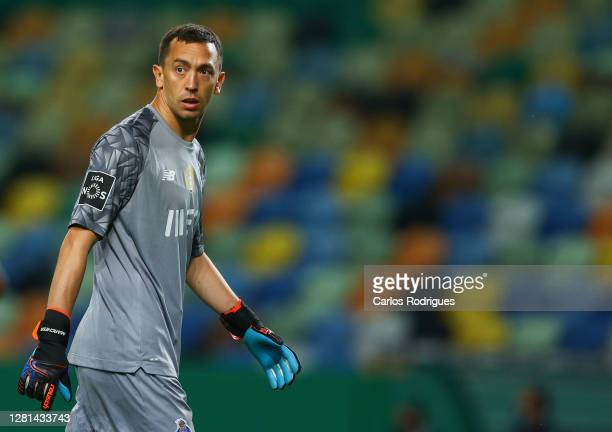Agustin Marchesin of FC Porto during the Liga NOS round four match between Sporting CP and FC Porto at Estadio Jose Alvalade on October 17 2020 in...