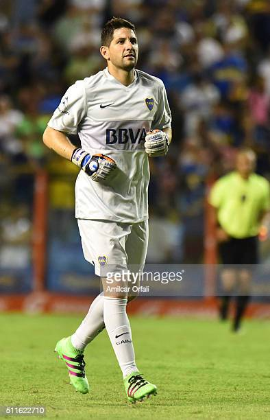 Agustin Orion goalkeeper of Boca Juniors in action during the 4th round match between Boca Juniors and Newell's Old Boys as part of the Torneo...