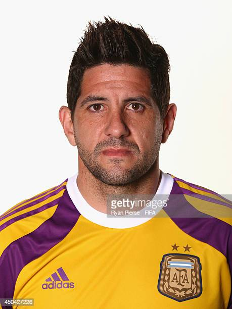 Agustin Orion of Argentina poses during the official FIFA World Cup 2014 portrait session on June 10 2014 in Belo Horizonte Brazil
