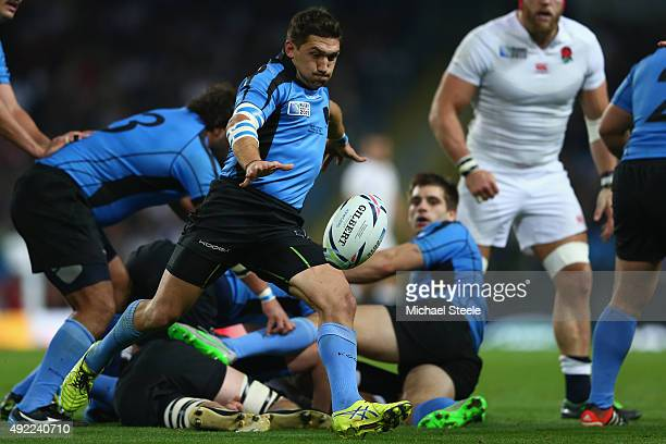 Agustin Ormaechea of Uruguay during the 2015 Rugby World Cup Pool A match between England and Uruguay at Manchester City Stadium on October 10 2015...