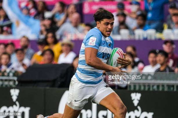 Agustin Segura of Argentina makes a break in their match against New Zealand at 5th Place Playoff on day three of the Cathay Pacific/HSBC Hong Kong...
